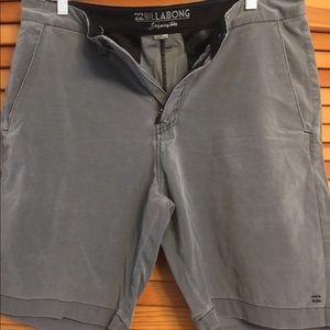 Gray billabong shorts